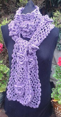 Ravelry Irish Rose Crochet Scarf Pattern Pattern By Sonya Gibbons