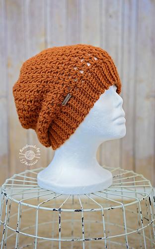 Ravelry  Crochet V-Stitch Slouchy Hat pattern by Phanessa Fong 446f0458bcf