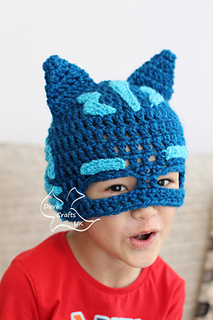 Ravelry  Catboy Mask Hat (PJ Masks) pattern by Dove Crafts UK d5f5ad5b80a