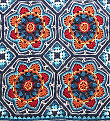 Ravelry Persian Tile Blanket Pattern By Jane Crowfoot