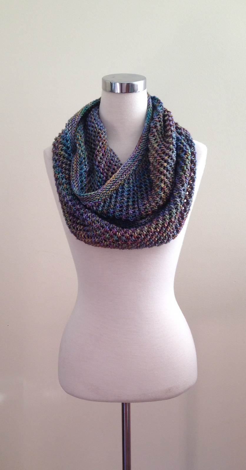 Autopilot Cowl  and infinity scarf knitting pattern.