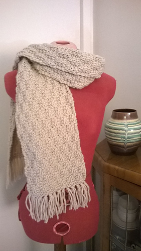 Ravelry Deep Frost Textured Scarf Pattern By Dorcas Maclean Knits