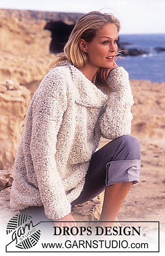 9b45cf87f369 Ravelry  64-15 Sweater with large collar pattern by DROPS design