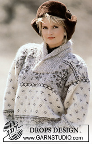 Ravelry 12 22 Jumper With Snowflake Pattern Pattern By Drops Design