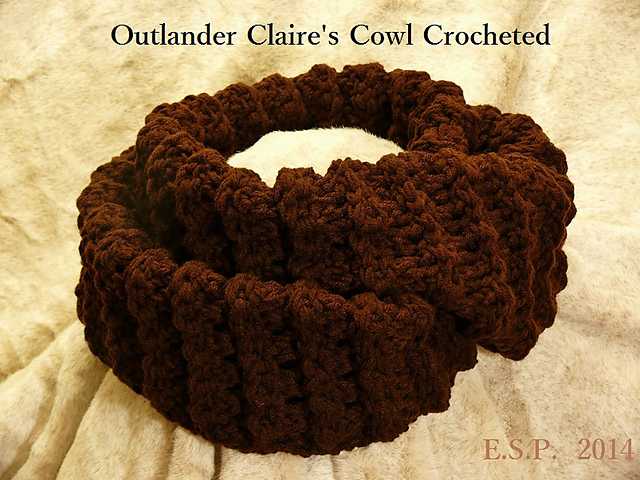 Ravelry Outlander Claire's Cowl Crocheted Pattern By E S Paul Adorable Outlander Crochet Patterns