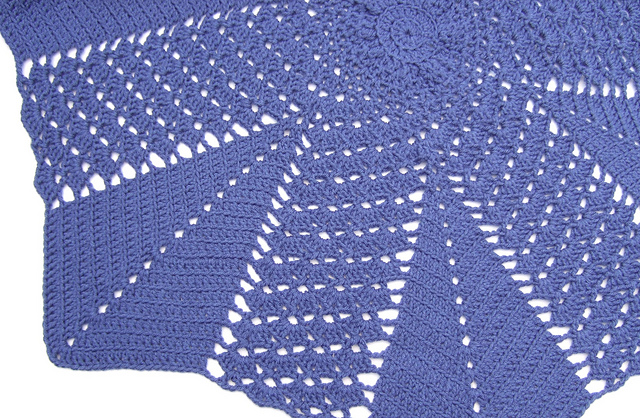 Ravelry Shell And V Stitch Round Ripple Blanket Pattern By Heather