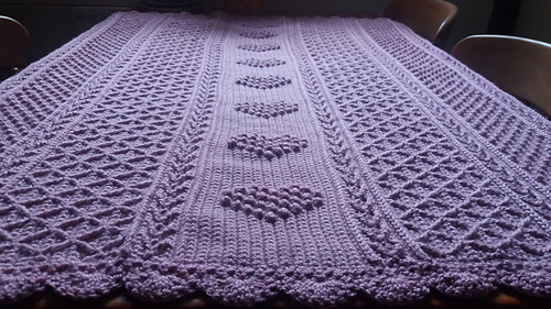 Ravelry Aran Hearts Throw Pattern By Bonnie Barker
