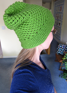 Ravelry  Mesh Lace Slouchy Hat pattern by Jamie Sande 0bde9e0a112