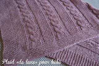 Ravelry plaid de luxe pour b b pattern by mamzelle ang le - Modele plaid tricot gratuit ...