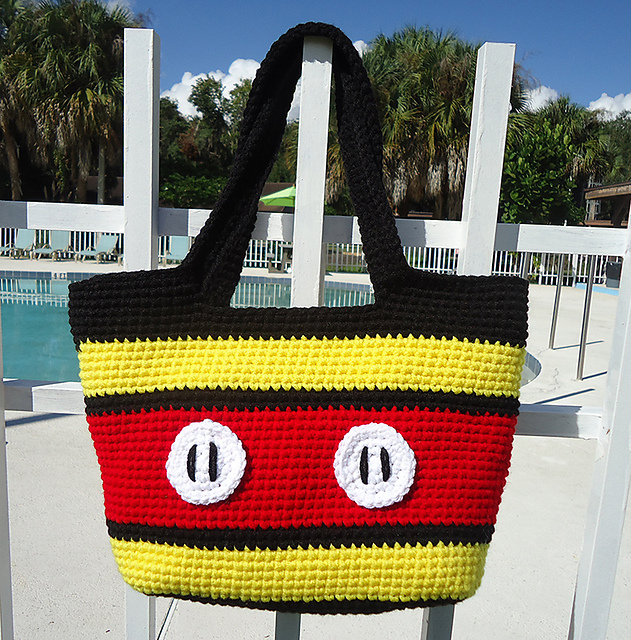 ravelry totally mickey tote pattern by april crochets