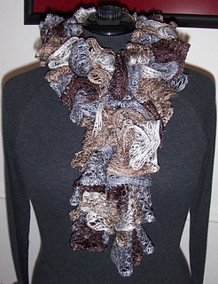 2caa2b6932bfc Entity60's Machine Knitted Sashay Ruffled Scarf - Ravelry