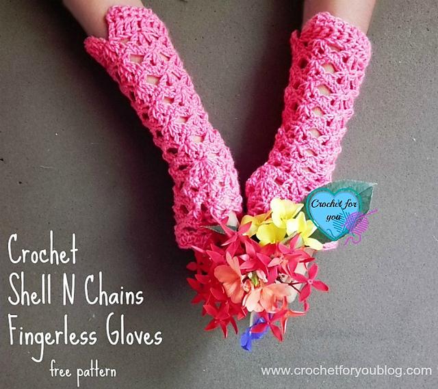 Ravelry Shell N Chains Gloves Pattern By Erangi Udeshika