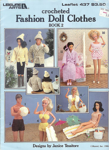Ravelry Leisure Arts 437 Crocheted Fashion Doll Clothes Book 2