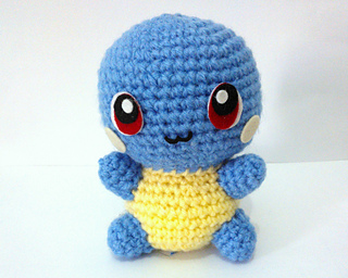 Amigurumi Pokemon Instructions : Ravelry: Squirtle Pokemon Amigurumi pattern by Erin Huynh
