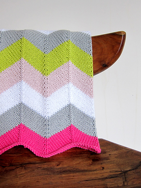 Ravelry Chevron Baby Blanket Pattern By Espace Tricot