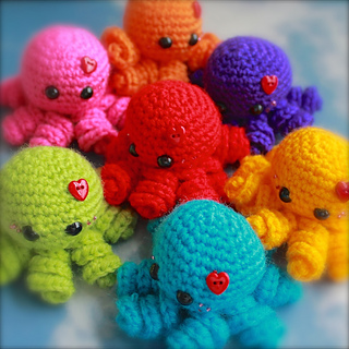 Ravelry  Mini Amigurumi Octopus pattern by Sarah Hearn 9eec2a273a81