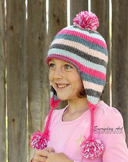 Ravelry: Children's Knit Ear Flap Hat pattern by Everyday Art