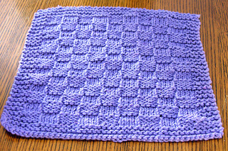 Knitted Basket Weave Dishcloth Pattern : Ravelry: Basket Weave Dishcloth pattern by Kimara Wee Folk Art