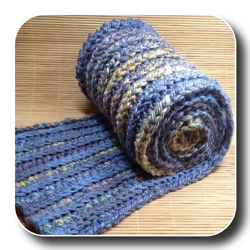 Ravelry Reversible Ribbed Scarf Pattern By Chandi Agee