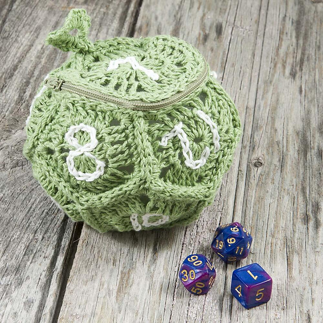 Ravelry: D12 Dice Bag pattern by Rae Blackledge