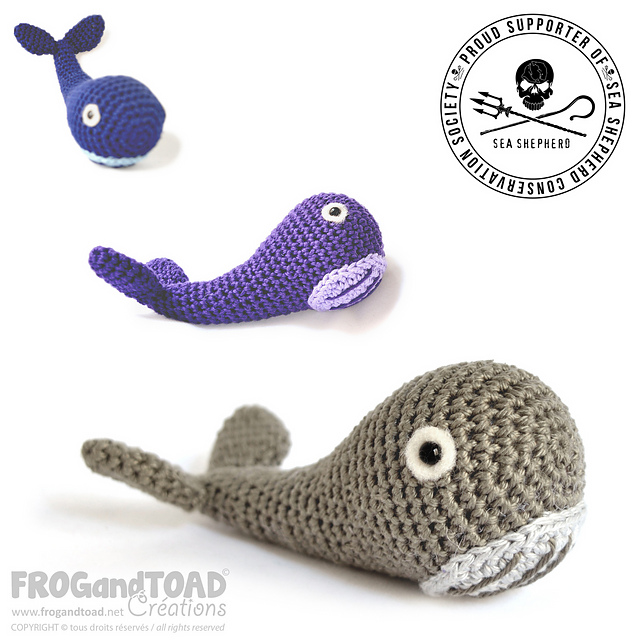 Ravelry: Whale / Baleine / Balena pattern by FROGandTOAD Créations