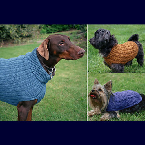 Ravelry: Dandy Dog Sweaters (FT211) pattern by Evelyn A. Clark
