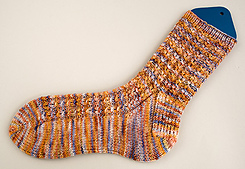 Mock Cable Socks PDF