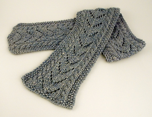 Aran Cable And Lace Scarf Pdf At Fiberwild Knitting Yarns