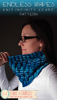 ac98f8485c377c Ravelry  Endless Waves Infinity Scarf pattern by Fibreandfabrics