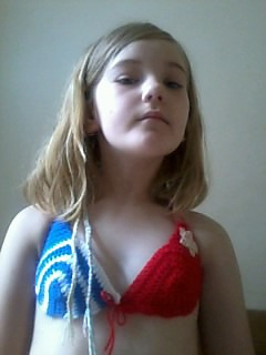 Ravelry Wonderwoman Child Bikini Top Pattern By Melodye