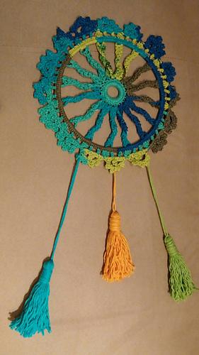 Ravelry Macrame Inspired Sunwheel Dreamcatcher Pattern By