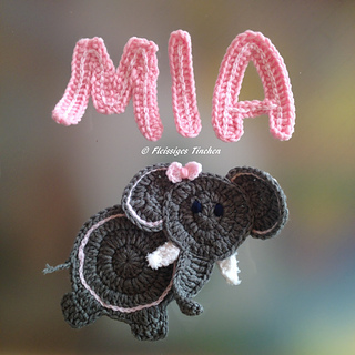 2a4634360f553 Ravelry: Elephant Applique pattern by Hooking Housewives