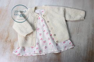 f34455679 Ravelry  38   Princess Charlotte Cardigan pattern by Florence Merlin