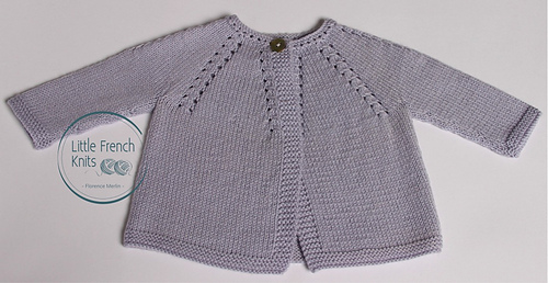 ca4611308 Ravelry  4   Cardigan for baby pattern by Florence Merlin
