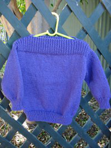Ravelry Simple Childs 8 Ply Jumper With Dropped Shoulders Pattern