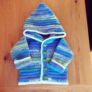 Crochet Baby Hoodie Patterns : Ravelry: Sweet Baby Hoodie pattern by Bernat Design Studio