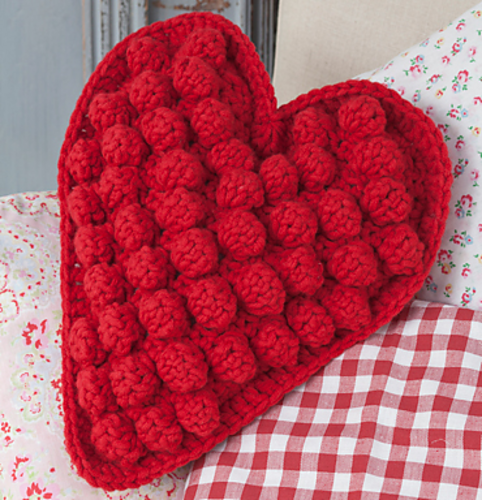 Ravelry Heart Shaped Textured Cushion Pattern By Frederica Patmore