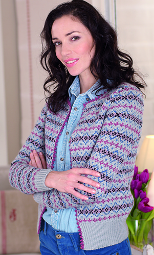 Ravelry: Knitted Ladies Fair-Isle Edge to Edge Cardigan pattern by ...