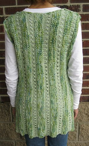 Beginner Baby Knitting Patterns : Ravelry: One Piece Sideways Vest pattern by Kelly Mac
