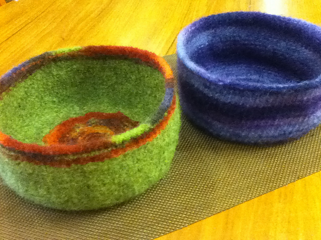 Ravelry Felted Bowls Pattern By Gigi Hooper