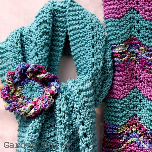 Ravelry Spring Scarf And Statement Corsage Pattern By Garden Knits