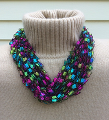 ravelry french knit ladder yarn necklace pattern by gemma galli