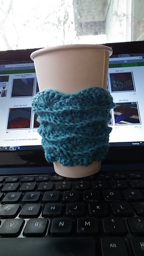 Ravelry Rise And Shine Coffee Cup Sleeve Pattern By Giovanna Fregni