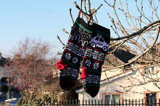 christmas stocking fair isle by gigi knits gigi knits