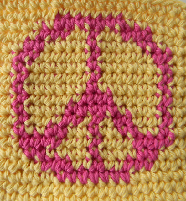 Ravelry Graph Chart Peace Sign Pattern By Glamour4you