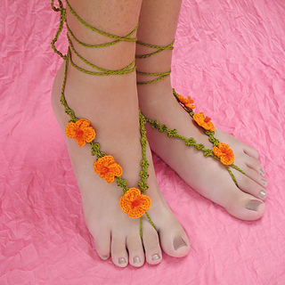 Ravelry Poppy Barefoot Sandals Pattern By Julie King