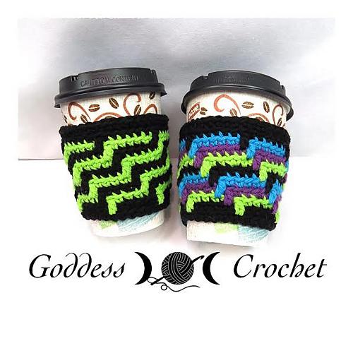 Ravelry Caffeinated Coffee Cozy Pattern By Goddess Crochet