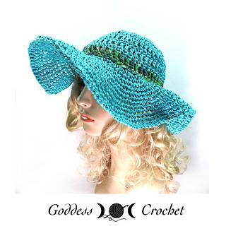 Ravelry  Raffia Wide Brim Hat pattern by Goddess Crochet 899c8c84221