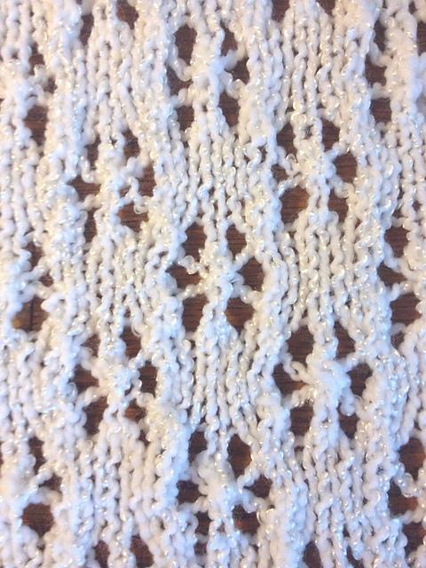 Ravelry Snowflake Eyelet Baby Blanket Pattern By Golden Heart Knitting