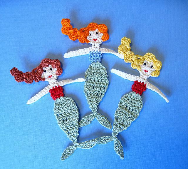 Ravelry: Ocean Bundle Pack- 5 Crochet Appliques PATTERNS - patterns